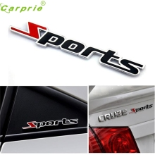 Car Sticker  Sports Word letter 3D Chrome metal Emblem Badge Decal Auto Ma22 dropshipping