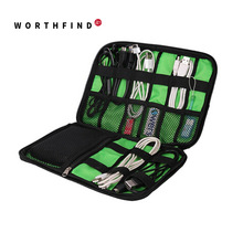 WORTHFIND New Data Cable Travel Bag Practical Earphone Wire Bag Power Line USB Flash Disk Case Digital Accessories Bag