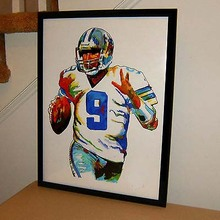 TOP Original abstract ART oil painting # Tony Romo, Dallas Cowboys, Quarterback, Football, Sports - hand painted OIL painting(China)