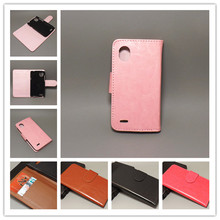 Crazy horse wallet case hold two Cards with 2 Card Holder and pouch slot For HTC T328W Desire V / Desire X T328e