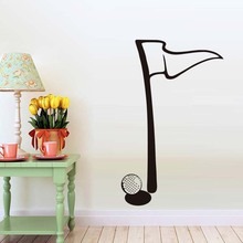 Minimalist Golf Flag Wall Sticker High Quality Golf Sport Game Pattern Children Bedroom Vinyl Removable Home Decor Accessory(China)