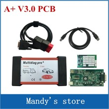 V3.0 Green PCB VD TCS CDP Pro Plus mvd Multidiag Pro+ with bluetooth 2015.R1/2014.R3 Software for cars trucks diagnostic tool(China)