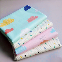 4PCS 40CM*50CM cloud rain diy cotton patchwork fabric sewing cloth craft material Tissue quilting baby cloth kids infant tecidos