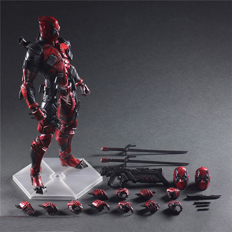26cm Deadpool Figure Wolverine X-MEN Play Arts Dead Pool PVC Action Figures Resin Collection Model Doll Toy Gifts (4)