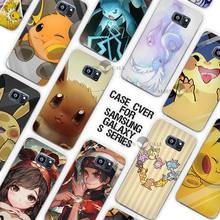 OWNEST Cute Pokemons Pikachus Clear Case Cover Coque Shell for Samsung Galaxy S3 S4 S5 Mini S6 S7 Edge Plus