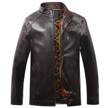 Buy Solid PU Leather Jacket Men Motorcycle Male Stand Collar Casual Winter Male Jacket Zipper Fitness Coats Plus Size 4XL 5XL for $59.98 in AliExpress store