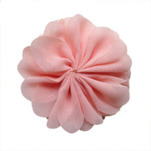 "14 color solid DIY chiffon flowers for crafts, 3"" fabric flower for embellishing headbands,sewing etc."
