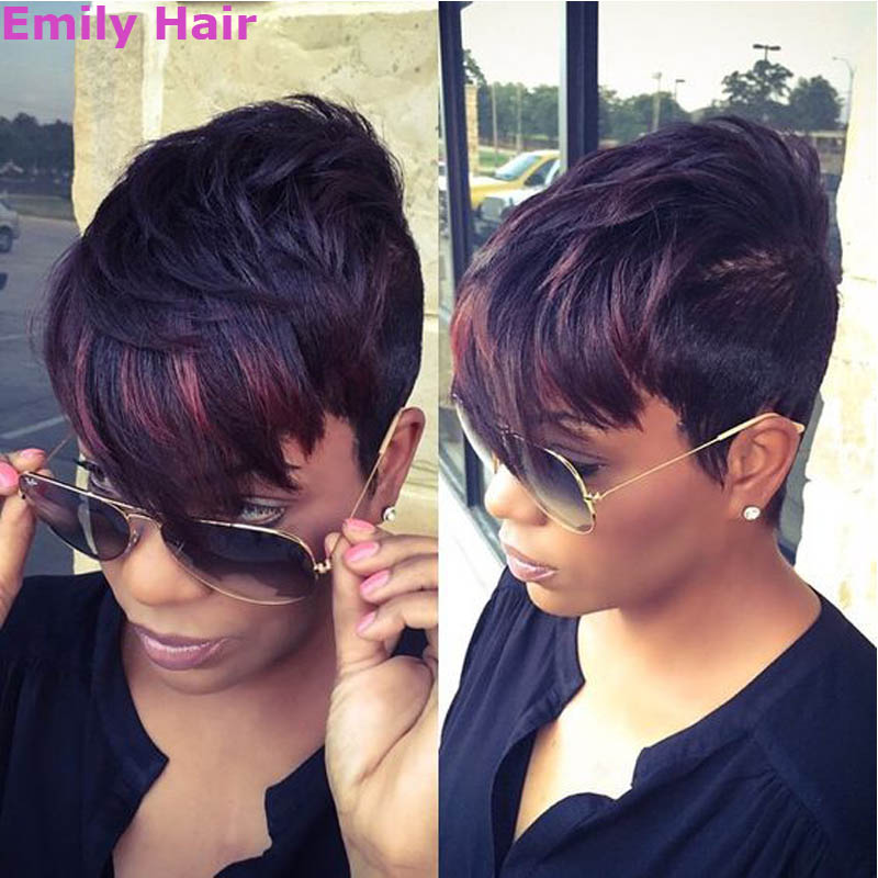5 Short Wigs for Black Women 140g Synthetic Wig for Black Women Cheap Short Straight Wig Perruque Synthetic Hair Heat Resistant<br><br>Aliexpress