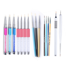 7mm 9mm 11mm Nail Brush Painting Flower Drawing Line Pen Crystal Rhinestone Metal Acrylic UV Gel Polish Tip Design Tool(China)