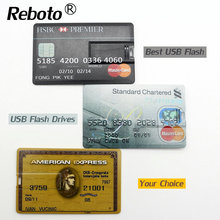 Bank Card Super Slim USB Flash Drive 64GB 8GB 16GB 32GB Credit Pendrive 4GB USB 2.0 Memory stick real capacity pendrive u disk