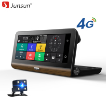 "Junsun E31 Car DVR Camera 4G Supported plus ADAS 7.80"" Android 5.0 GPS BT Dash Cam Registrar Video Recorder with two cameras"