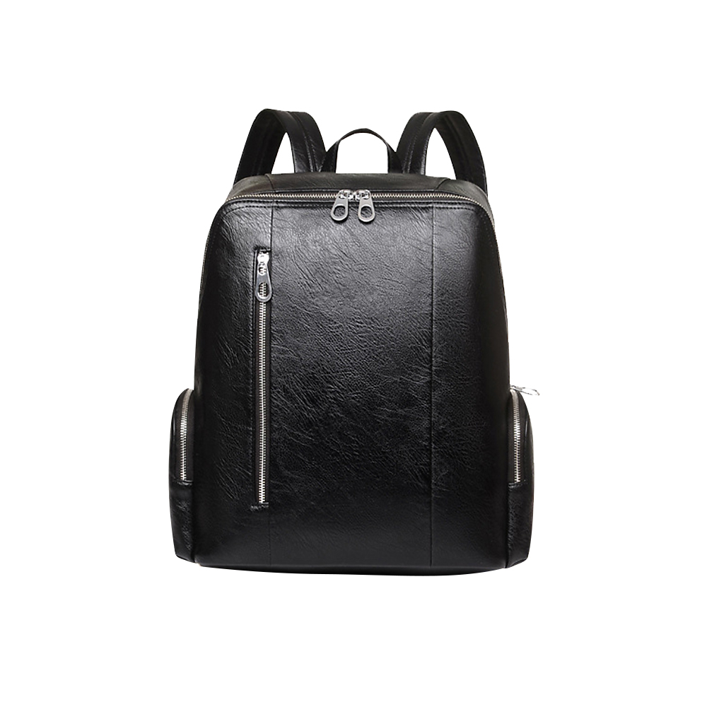 Badiya Men Backpacks Soft PU Leather Luxury Quality High Capacity Preppy Style School Bags for Students Computer Bag<br>