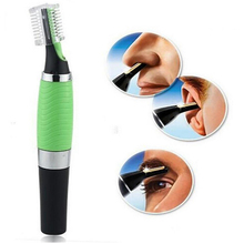 1 Pc Micro Precision Ear Eyebrow Nose Trimmer Removal Clipper Shaver Personal Electric Built In LED Light Face Care Hair Trimer(China)