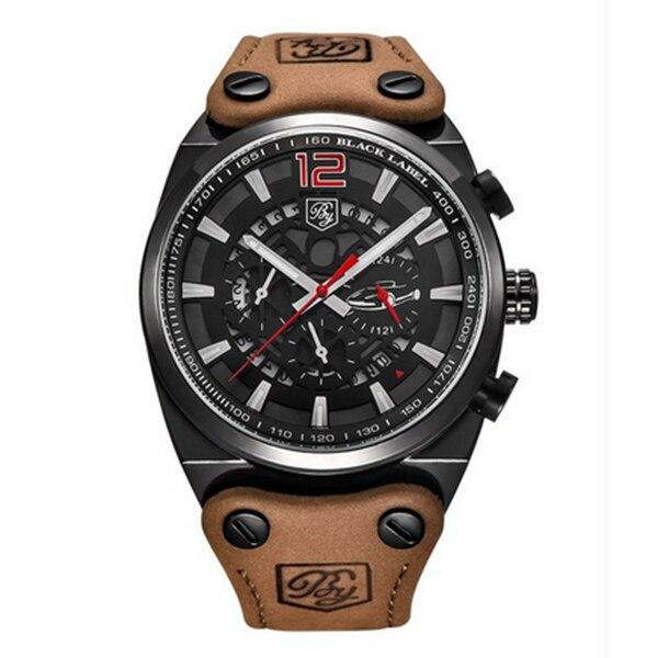 BENYAR Sport Men Watches Quartz Man Outdoor Big Dial Watch Male Clock Male black red<br>
