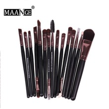 15pcs/Set MAANGE Brand Makeup Brush Set Eye Shadow Powder Double Eyebrow Cosmetics Make Up Brushes Eye Pincel Maquiagem #237079