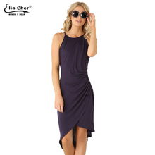 Women Dress 2017 New summer dresses casual women Clothing sexy and Solid Tank dresses Plus Size 6070(China)