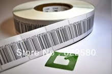 High quality eas rf 8.2mhz soft label 4*4cm rf barcode label for anti-theft(China)
