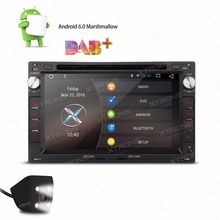 XTRONS 7 inch 2 din Android 6.0 Quad Core Radio Car DVD Player for vw LUPO CHICO/SEAT/SKODA Babia/Peugeot 307+Reversing Camera