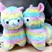 10pc/Lot 17cm 35cm 45cm Rainbow Alpaca Japan Alpacasso Arpakasso Plush Stuffed Doll Kids Alpaca Christmas Gifts Toy(China)