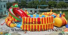 2016 commercial PVC water park pool/inflatable water slide pool/inflatable water park toys for kids and adults
