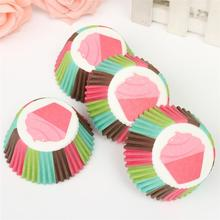 100 Pcs Candy Color Mini Paper Cake Cupcake Wrapper Muffin Baking Cup For Birthday Party good for the environment