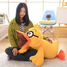 Cute cartoon yellow duck plush toy doll funny big mouth smile duck doll good birthday gift for children home decor 25cm/50cm