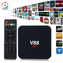 HOT Selling V88 TV Box Quad-core 1G 8G HD Android 6.0 WiFi H.265 VP9 4K Smart Media Player Set Top Box PK A95X X96 T5