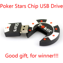 1 Year Warranty 2.0 8GB 16GB 32GB 64GB Rubber Poker Stars Pokerstars USB Flash Drive 512GB Pen Drive Cute Gift Pendrive 128GB(China)
