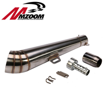 Mzoom-48.8MM Modified motorcycle exhaust pipe stainless steel fried tube gp exhaust pipe without sticker(China)