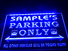 DZ045- Name Personalized Custom Car Parking Only Bar Beer   LED Neon Light Sign  hang sign home decor  crafts