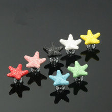 Ceramic Colorful Dresser Knobs Starfish Drawer  Cabinet Knobs Kitchen Cupboard Knobs Decorative Handle Red Pink Yellow