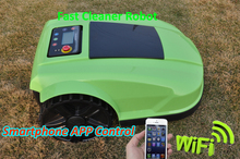 Smartphone WIFI APP Control 4th Generation GreeN Color Robot Lawn Mower S520 With Water-proofed charger,Two Year Warranty