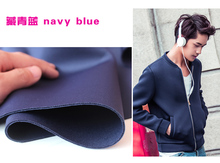 "Navy Blue Interlayer Spacer Fabric Spandex Fabric Knitted Fabric Skirt Jacket Suits Outfit 60"" Wide Sold By The Yard(China)"