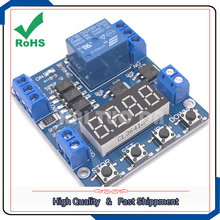 1 way one channel relay module,delay power off trigger voltage upper and lower limit detection cycle timing counting control(China)