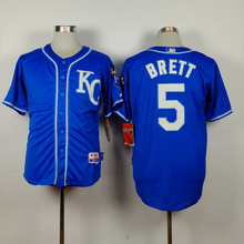 MLB Men's Kansas City Royals jersey Brett 5KC# Baseball Jerseys Alternate Cool Base Player Jersey with 2015 World Series(China)