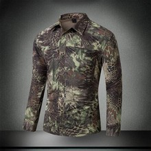 Military Style Tactical Shirt MultiCam Men Long Sleeve Summer Combat Shirts Male Python Camouflage Quick Dry SWAT Combat hots