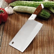 Cao Family Stainless Steel Chinese Style Chef Special Knife Kitchen Cut Meat Vegetable Knife Slicing Knives Household Cleaver