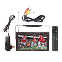 12V LED portable digital tv mpeg4 battery powered television dvb t2 chargeable portable tv