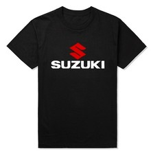 Suzuki Motorsport Team Logo T-shirt Men 100% Cotton Short Sleeve Custom Subaru Audi T shirt European Size S-XXL Wholesale Retail