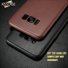 KISSCASE Ultra Thin Soft Cases For Samsung Galaxy S8 S8 Plus Case Retro Litchi Leather Skin Silicon Cases For Samsung S8 Case(China)