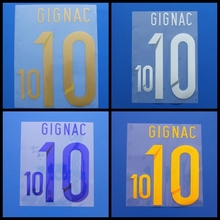 New Tigres UANL GIGNAC football number name font print, Hot stamping Soccer patches badges