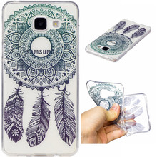 Meachy dream catcher Phone Case For Samsung Galaxy A3 A5 2017 Cases Silicone Soft TPU Cute Cartoon cat flower Back Cover   E66