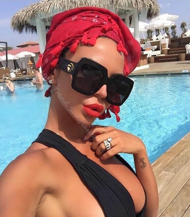 Großhandel Hbk Luxus Italien Marke Oversized Square Sonnenbrille ...