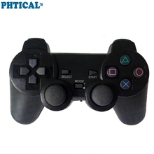 PHTICAL 3 IN 1 Wireless 2.4G Vibration Controller for Playstation 3 PS3/ Slim/ PS2/ PC Consoles Joypad Handle Gamepad for Mega