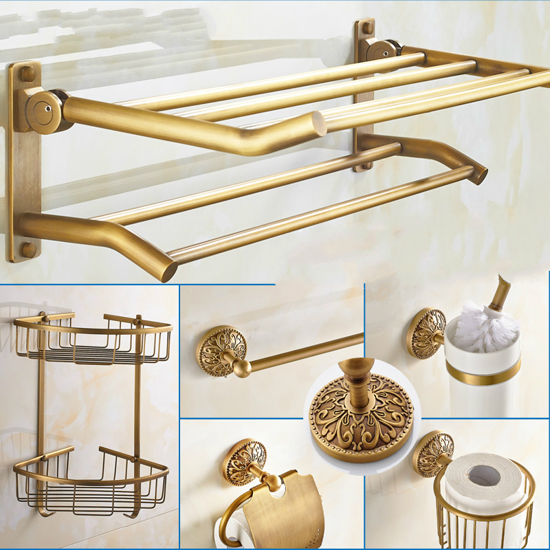 Ordinaire European Bathroom Hardware Sets Carved Base Bathroom Accessories Solid  Brass Bronze Bathroom Accessories Suite W94 In Bath Hardware Sets From Home  ...