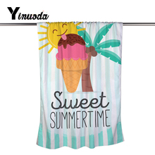 Yanuoda Sweet Summer Time Sun Ice Cream Coconut Palm Cool Fast Dry Super Absorbent Bathroom Beach Towels Bath Towel(China)