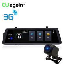 CUagain CUV6 10 inch DVR 3G Network With GPS Car Camera 1080P HD Android System Auto Recorder Front After Dual Lens Car Recorder(China)
