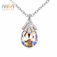 Collier Sale Direct Selling Trendy Women Fine Jewelry 2017 water drop Pendant Necklace Crystals from Austrian #102726(China)