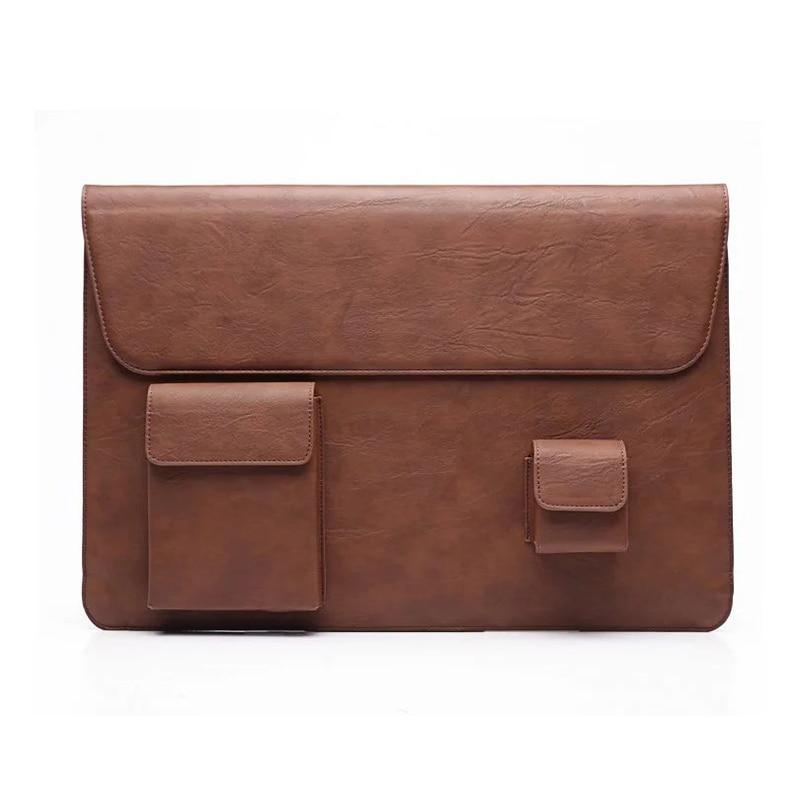 Laptop Sleeve High Quality Waterproof Handbag Ultra-slim 13 15 Laptop Bag for Macbook Pro 13 15 Retina Protective Leather Case<br><br>Aliexpress