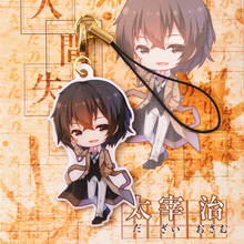 Bungo Stray Dogs Osamu Dazai Cool Double Side Printing Cute Anime Character Metal Badge Hanging Phone Strap Chain Gift